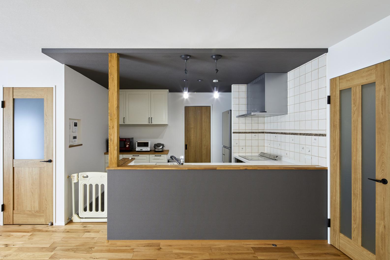 料理好きな奥様が 広々使えるL型キッチン