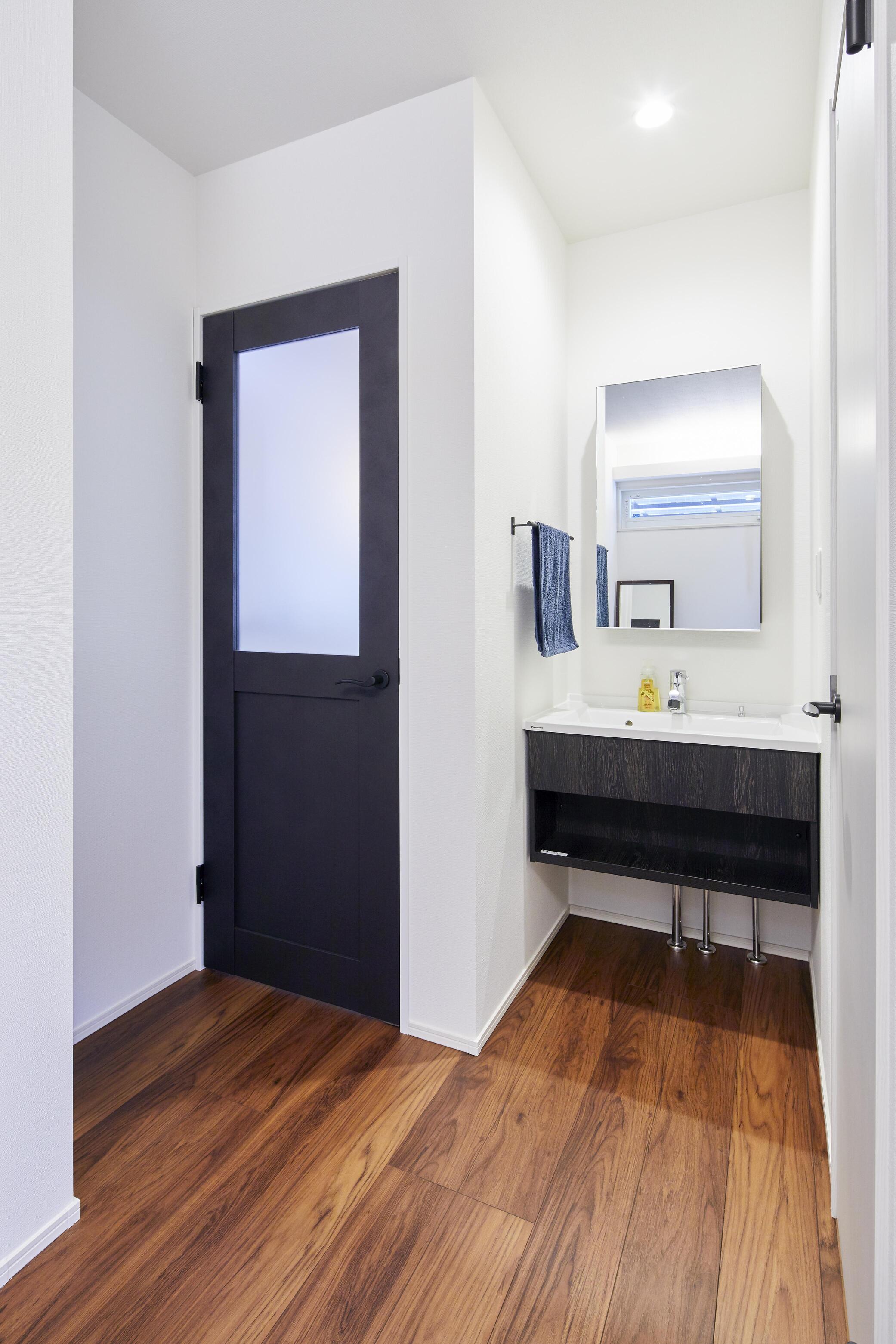 1階と2階に1ヵ所ずつ洗面所を設置
