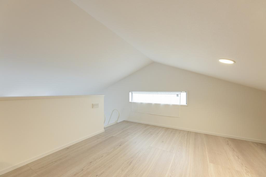 広々としたロフト空間では、趣味部屋や収納スペースとしても活用出来る。
