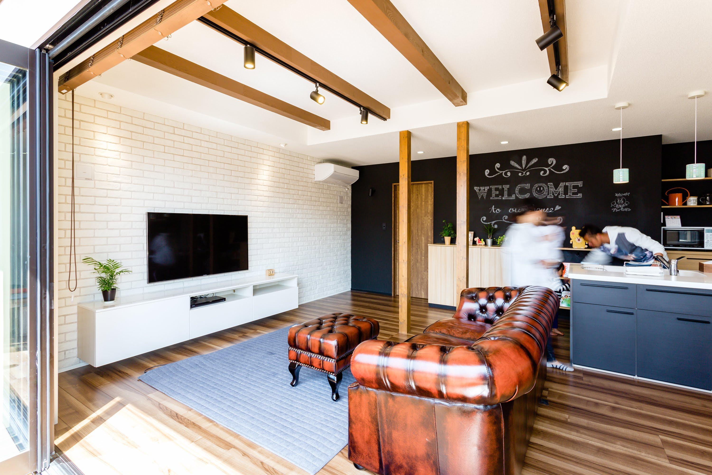 オープンテラスカフェ風の家